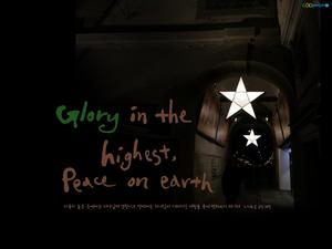 하나님께 영광 땅에서는 평화